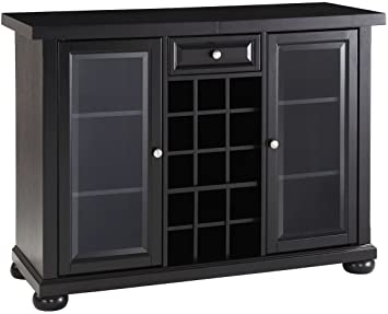 Amazon Com Crosley Furniture Alexandria Sliding Top Bar Cabinet