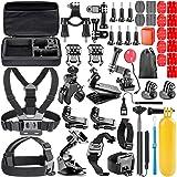 Neewer 44-In-1 - Acción Kit de accesorios de cámara para GoPro Hero Session / 5 Hero 1 2 3 3+ 4 5 SJ4000 5000 6000 DBPOWER AKASO VicTsing APEMAN WiMiUS Rollei QUMOX Lightdow Campark Y Sony Deportes DV y más