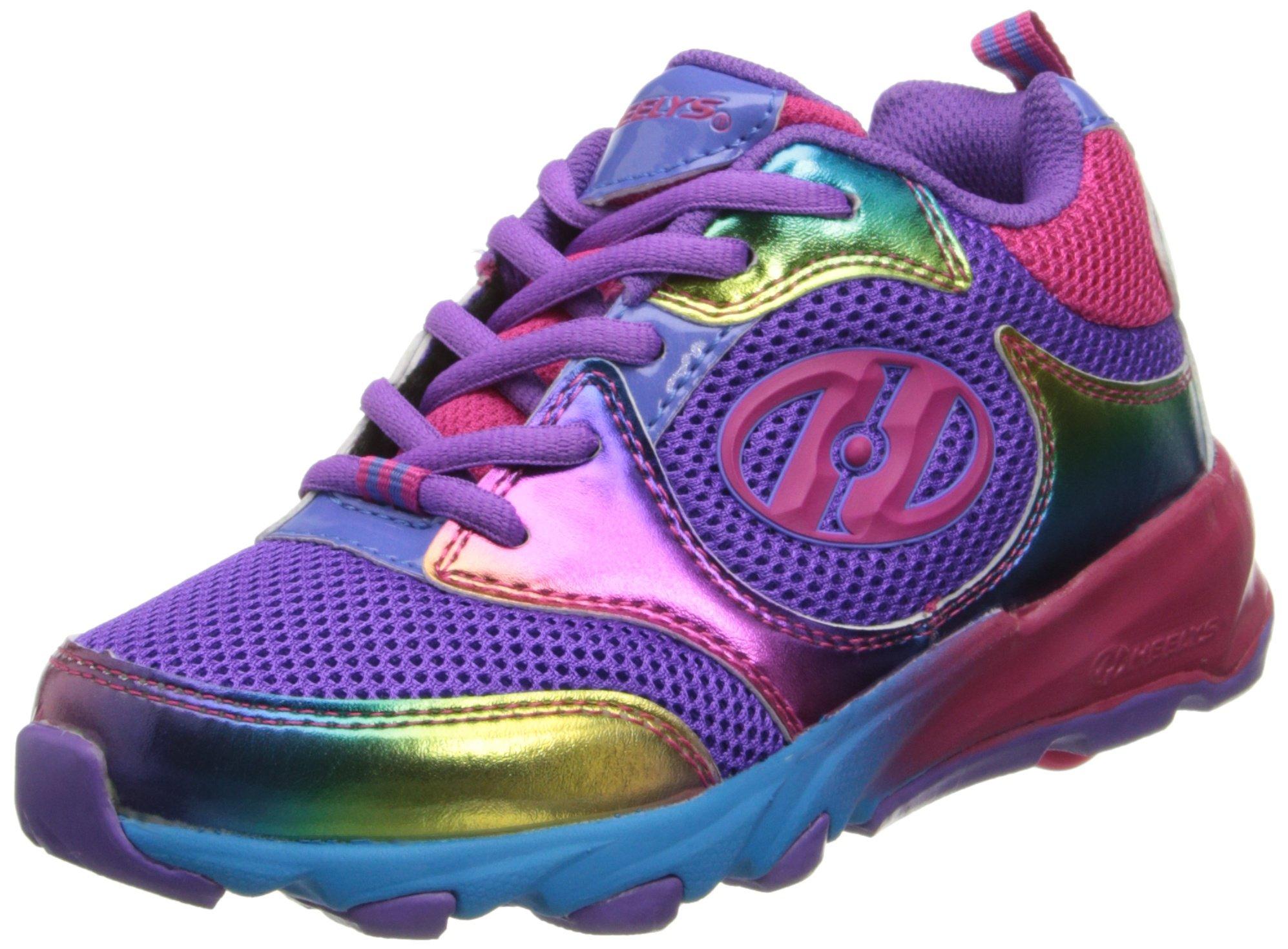 Heelys Race Skate Shoe (Little Kid/Big Kid),Purple/Rainbow,2 M US Little Kid by Heelys (Image #1)