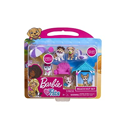 Barbie Pets Playset - Beach, Multicolor: Toys & Games