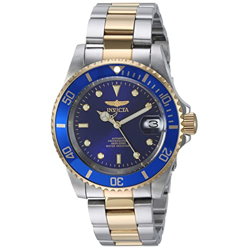 Invicta Men's Analogue Automatic Watch with Gold Plated Strap 8928OB