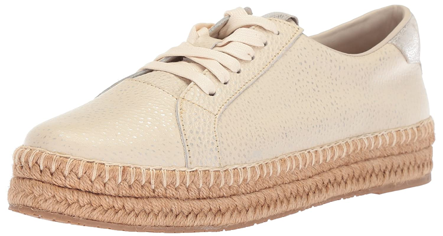 KAANAS Women's Arizona Leather Espadrille Platform Lace-up Sneaker B076FLW1F1 10 B(M) US|Ivory