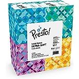 Amazon Brand - Presto! Ultra-Soft Facial Tissues (4 Cube Boxes), 3-Ply Premium Thick, 66 Tissues per Box (264 Tissues Total)