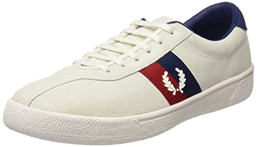 UK Shoes - Fred Perry B1 Sports Authentic Tennis Mens Trainers Off White Navy New Shoes