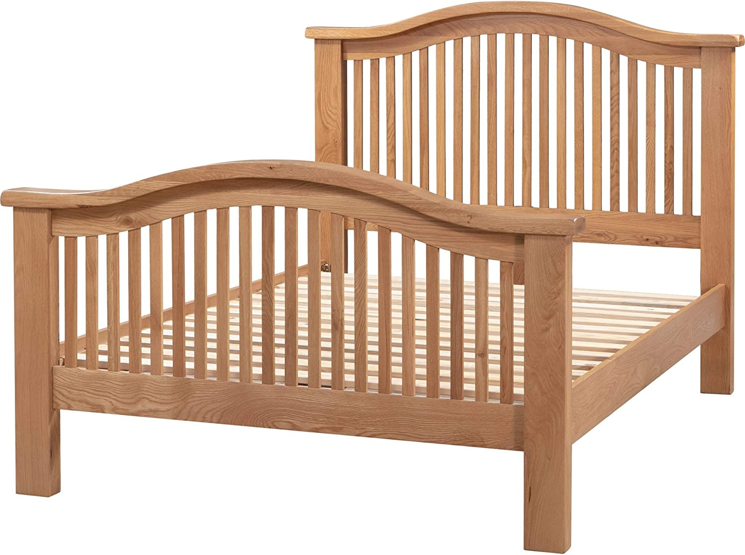JTF Mega Discount Warehouse Chatsworth Oak Double Bed Curved Frame