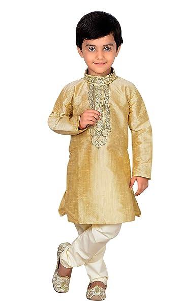 Desi Sarees Gold Boys Sherwani Kurta Pijama Salwar Kameez Fiesta ...