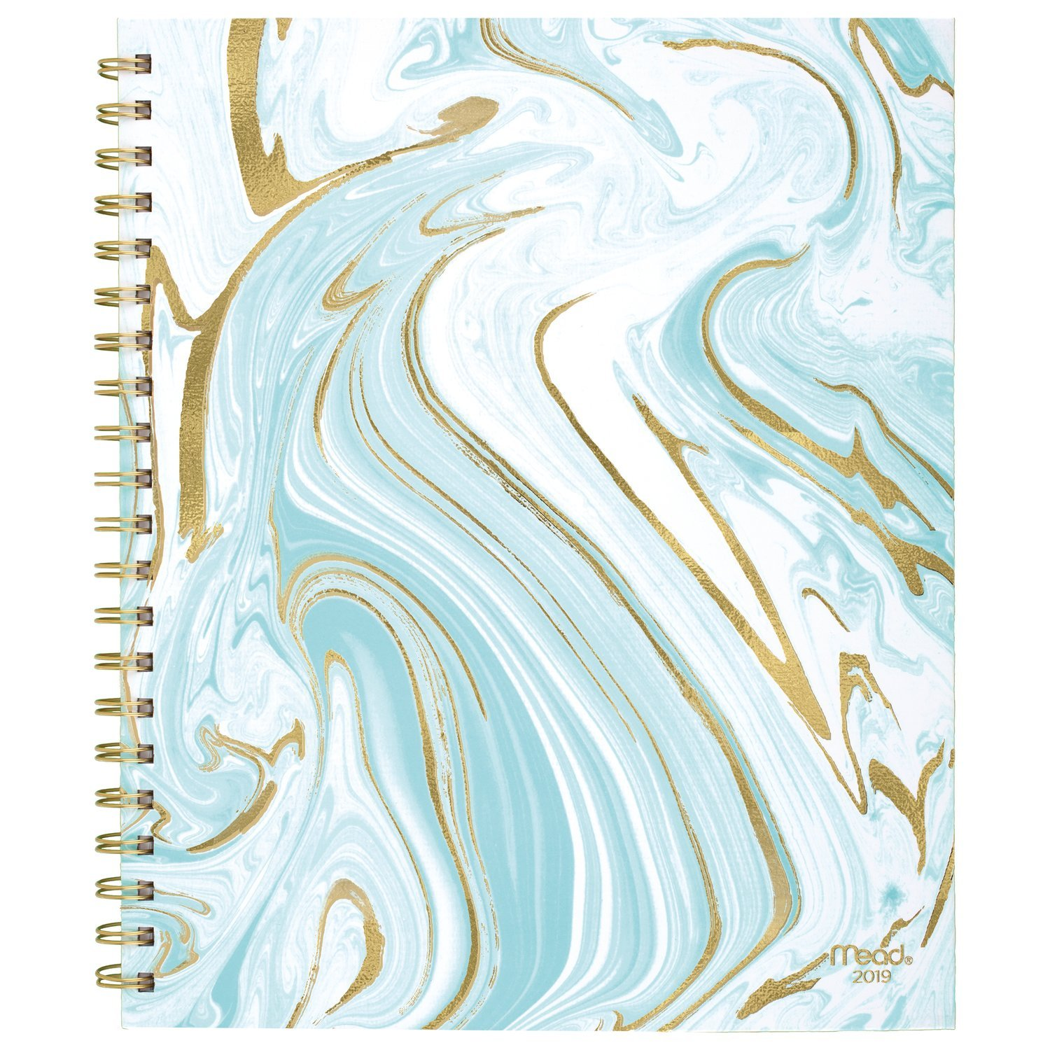 Mead 2019 Weekly & Monthly Planner, 8-1/2'' x 11'', Large, Hardcover, Artisan, Design Selected For You (CRW60710)