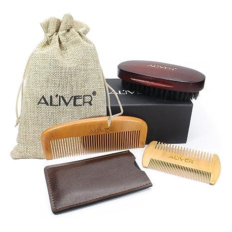 Cepillo para Barba Y Peine para Barba kit de cuidado Para Hombre – Set De Peine