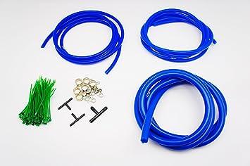 Image ofAutobahn88 Manguera de vacío de silicona de sala de motor vestir kit de bricolaje, ajuste universal de todas las marcas de vehículos y modelos (Azul)