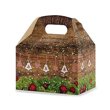 Geschenkkarton Weihnachten.10 Stuck Schachteln Weihnachten Weihnachtlich Rot Weiss Kariert Grun Braun Naturlich 12 5 X 18 6 X 12 Cm Geschenk Karton Weihnachts Verpackung