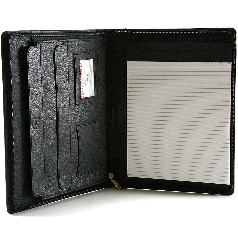 Amazon.com : Alpine Swiss Leather Portfolio, Writing Pad ...