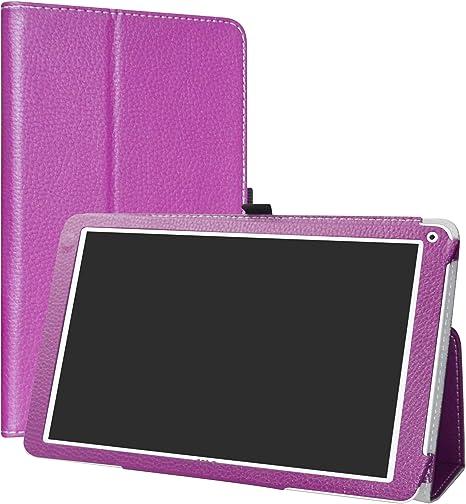 Folio Soporte PU Cuero Con Funda Caso para 10.1 SPC Heaven Android Tablet,Rojo LiuShan SPC Heaven Funda