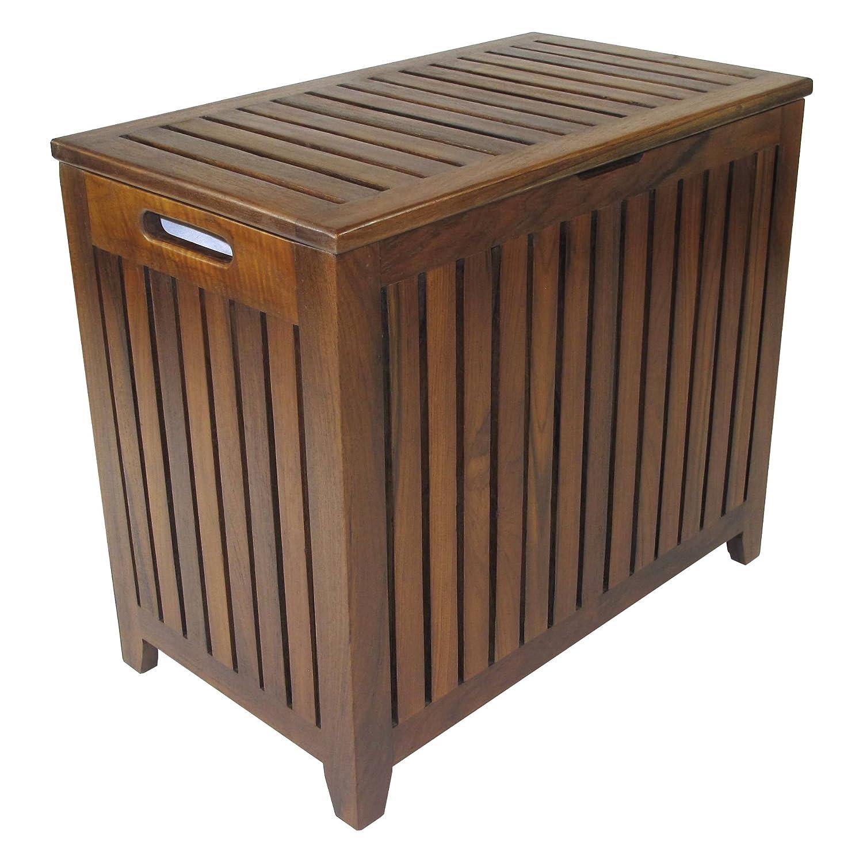 Amazon.com: Redmon Genuine Vanity Style Hamper, Wood Grain Teak: Home U0026  Kitchen