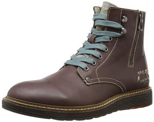 c291e8ac31374 Replay Cody - Botas de cuero para hombre  Amazon.es  Zapatos y complementos