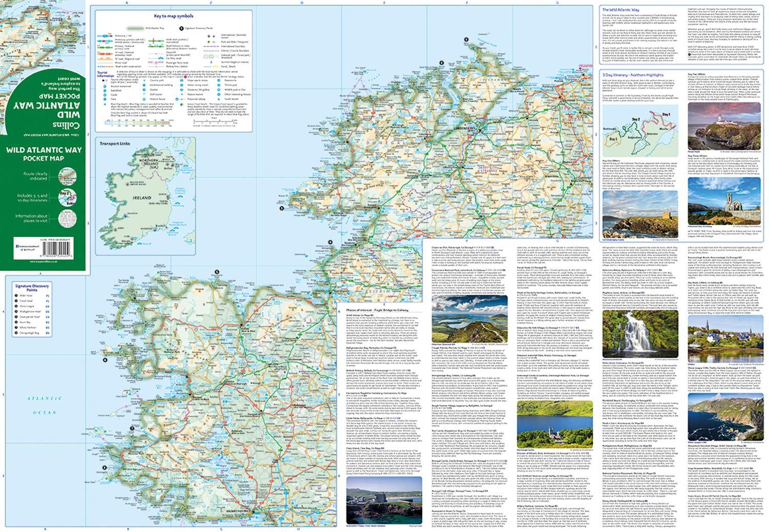 Wild Atlantic Way Pocket Map: The Perfect Way to Explore ...