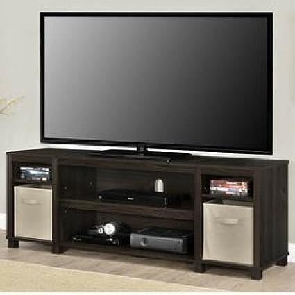 Amazon Com Sleek Classic Design 65 Espresso Tv Stand With 2 Non