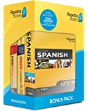 Learn Spanish and Unlimited Languages with Lifetime Access: Rosetta Stone Bonus Pack Bundle with Grammar Book and Dictionary