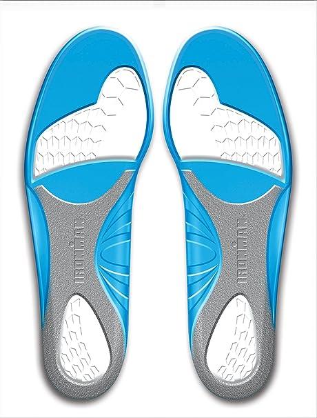 Spenco Ironman - Plantillas gel, tamaño 38-40, color azul/gris/blanco