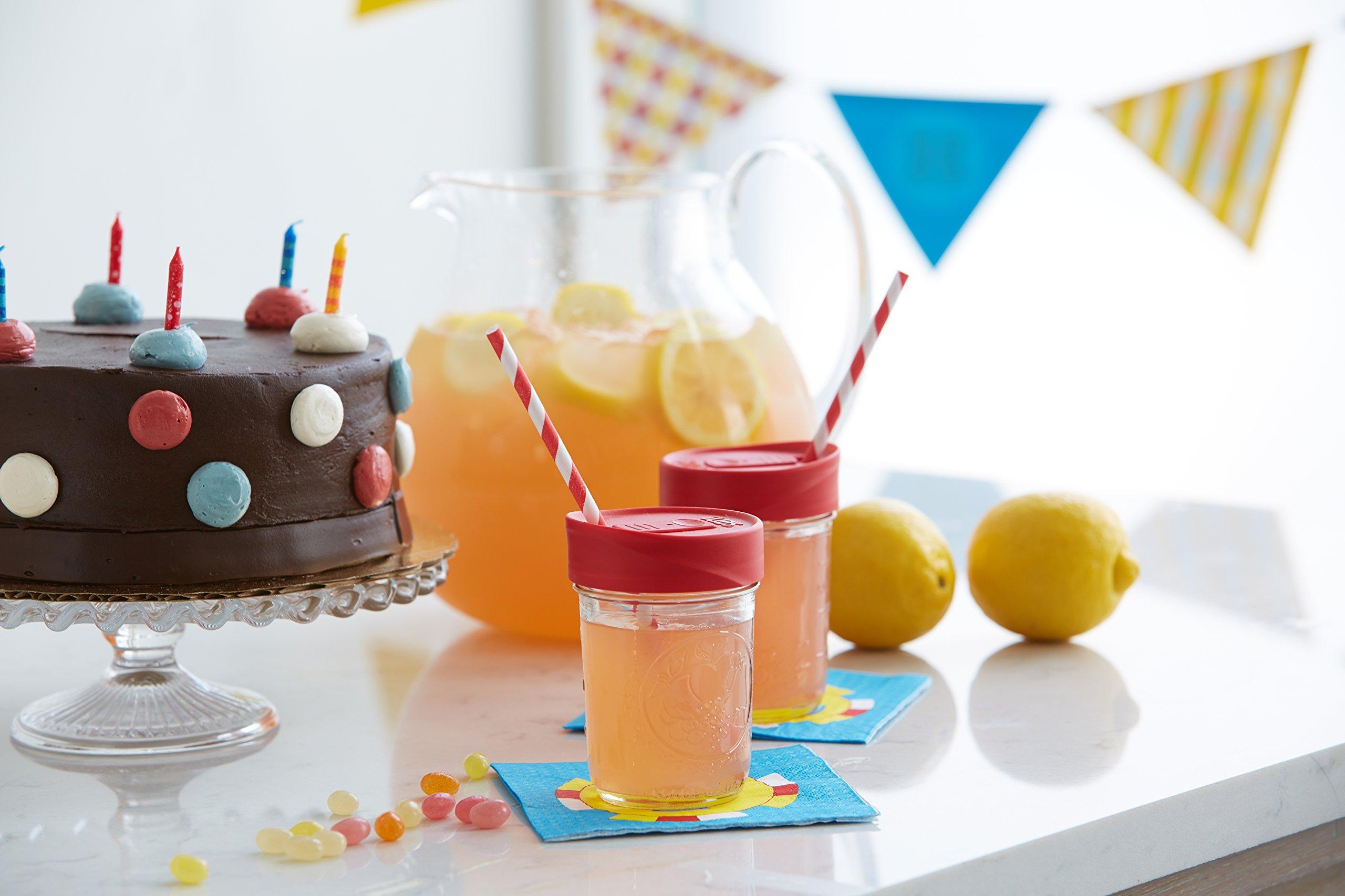 iLIDS Mason Jar Drink Lid, Wide Mouth, Classic Colors, 6-Pack by iLIDS (Image #2)
