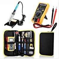 23 in 1 Multi-use Electric Soldering Iron Tools Set Various Devices Temperature Multimeter Desoldeirng Pump Welding Tool…