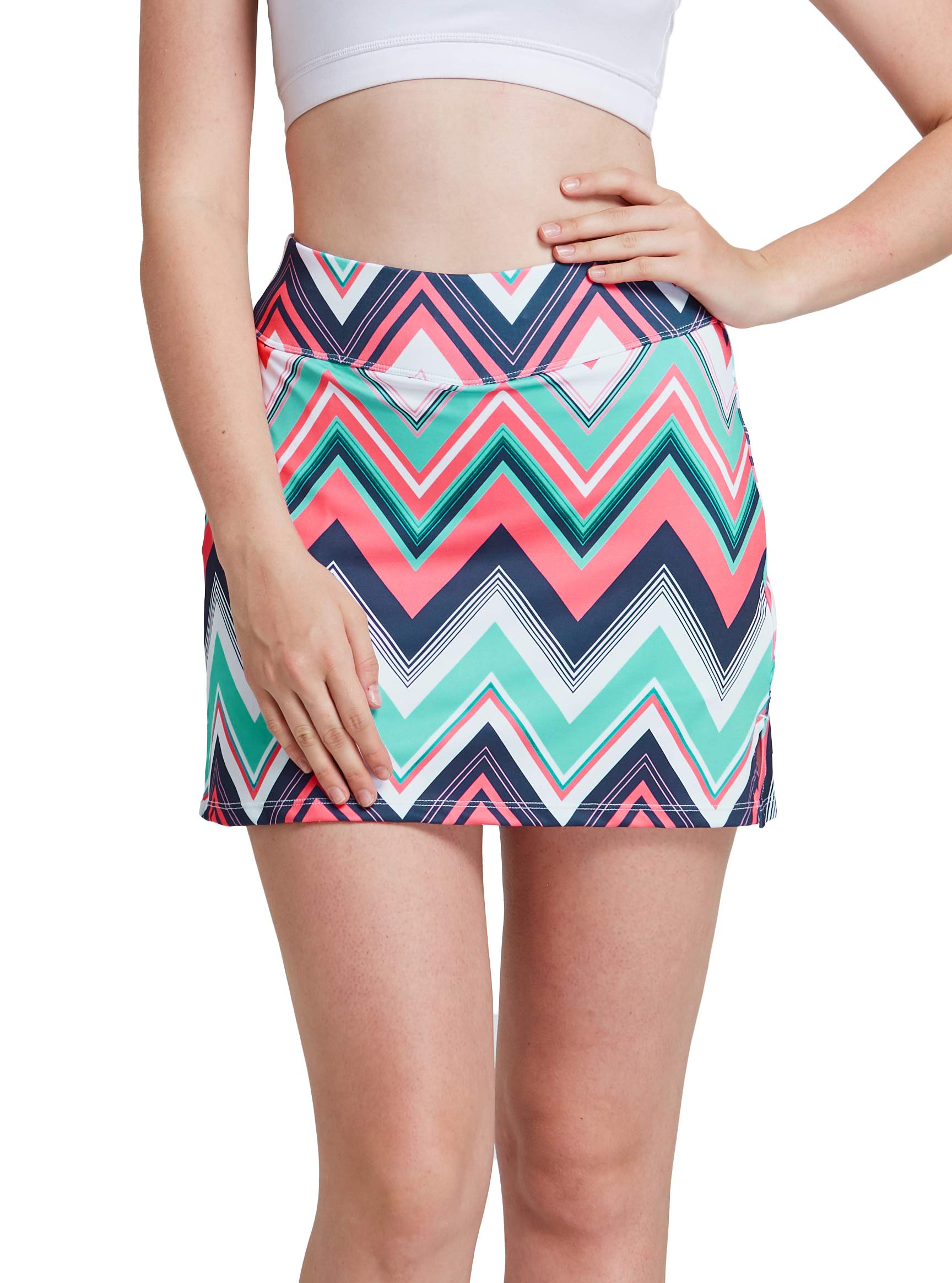 Womens Skort Built in Skirts for Golf Tennis Workout Casual Athleta Wear with Pockets by HonourSex