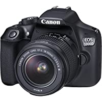 Canon EOS 1300D Single Kit with EF-S 18-55mm f 3.5-5.6 III Digital Camera - SLR(1300DKB) 3Inch Display,Black (Australian warranty)