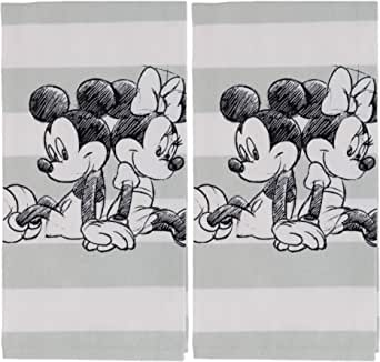 Disney Mickey and Minnie Mouse Kitchen Towels Set, 2pk - Stylish Kitchen Accessories Designed with Black, White Vintage Disney Mickey and Minnie Icons-Durable Tea Towels Perfect for Any Kitchen Decor