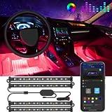 Govee Interior Car Lights, LED Car Strip Lights with Two-Line Waterproof Design, 48 LEDs App Control Car Light Kit, DIY…