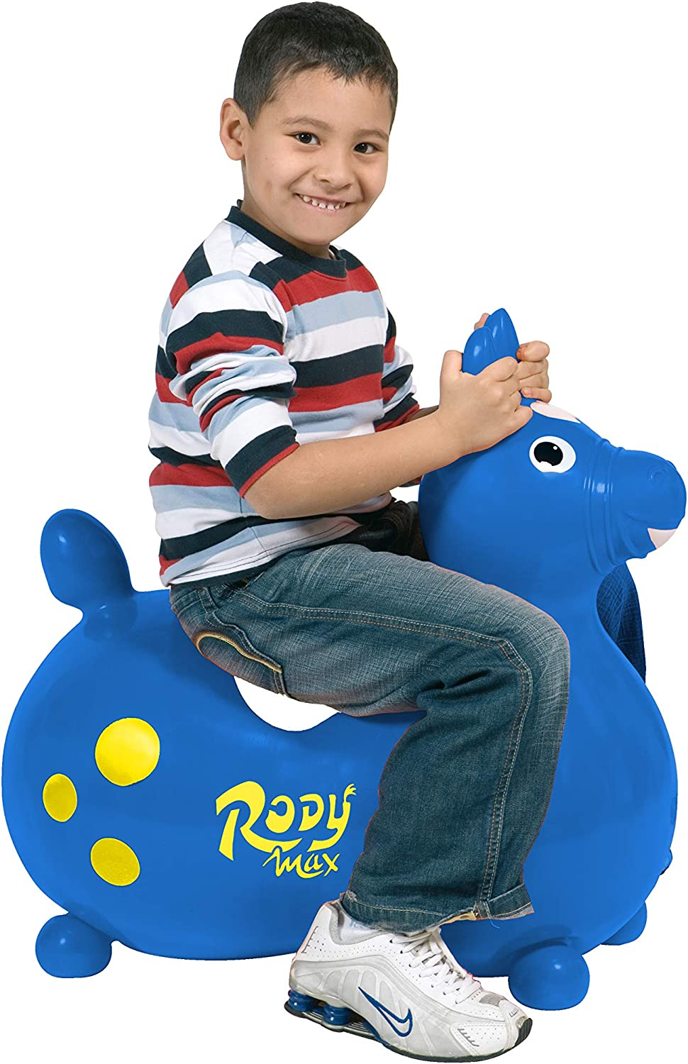 Blue Gymnic Rody Max Inflatable Horse