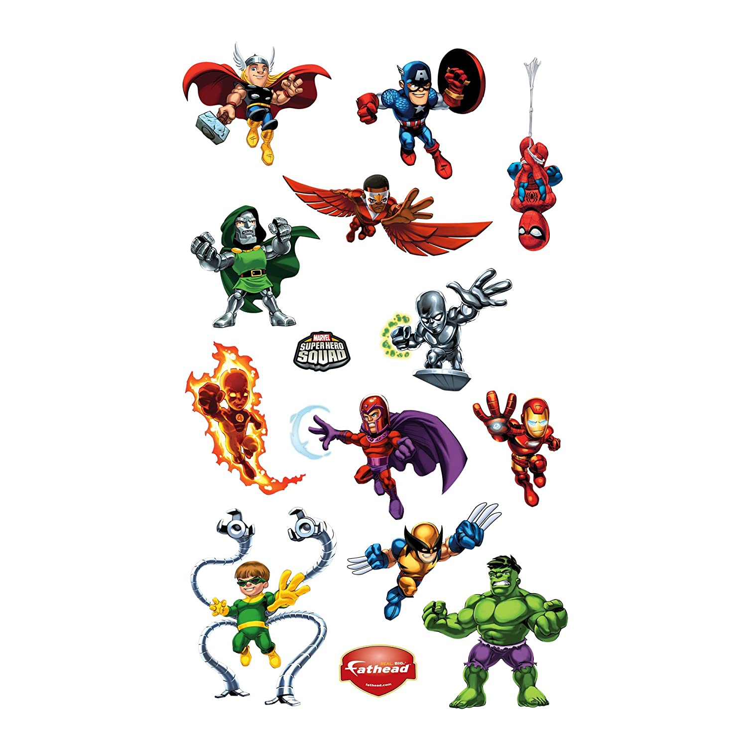 Amazoncom Super Hero Squad Wall Decal Home  Kitchen - Superhero wall decals target