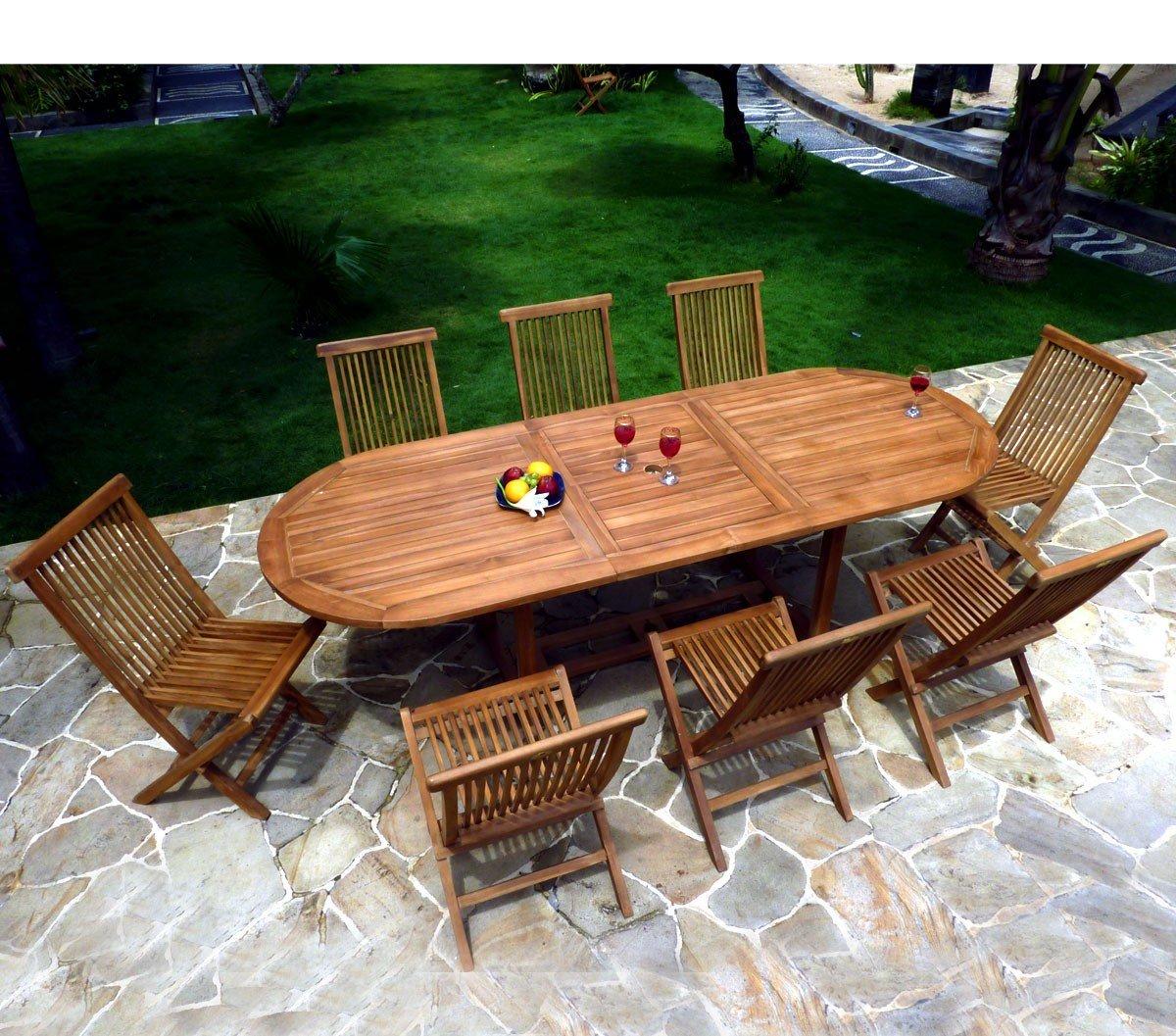 Gartenmöbel, Teak geölt für 8 – 10 Personen Tisch oval günstig