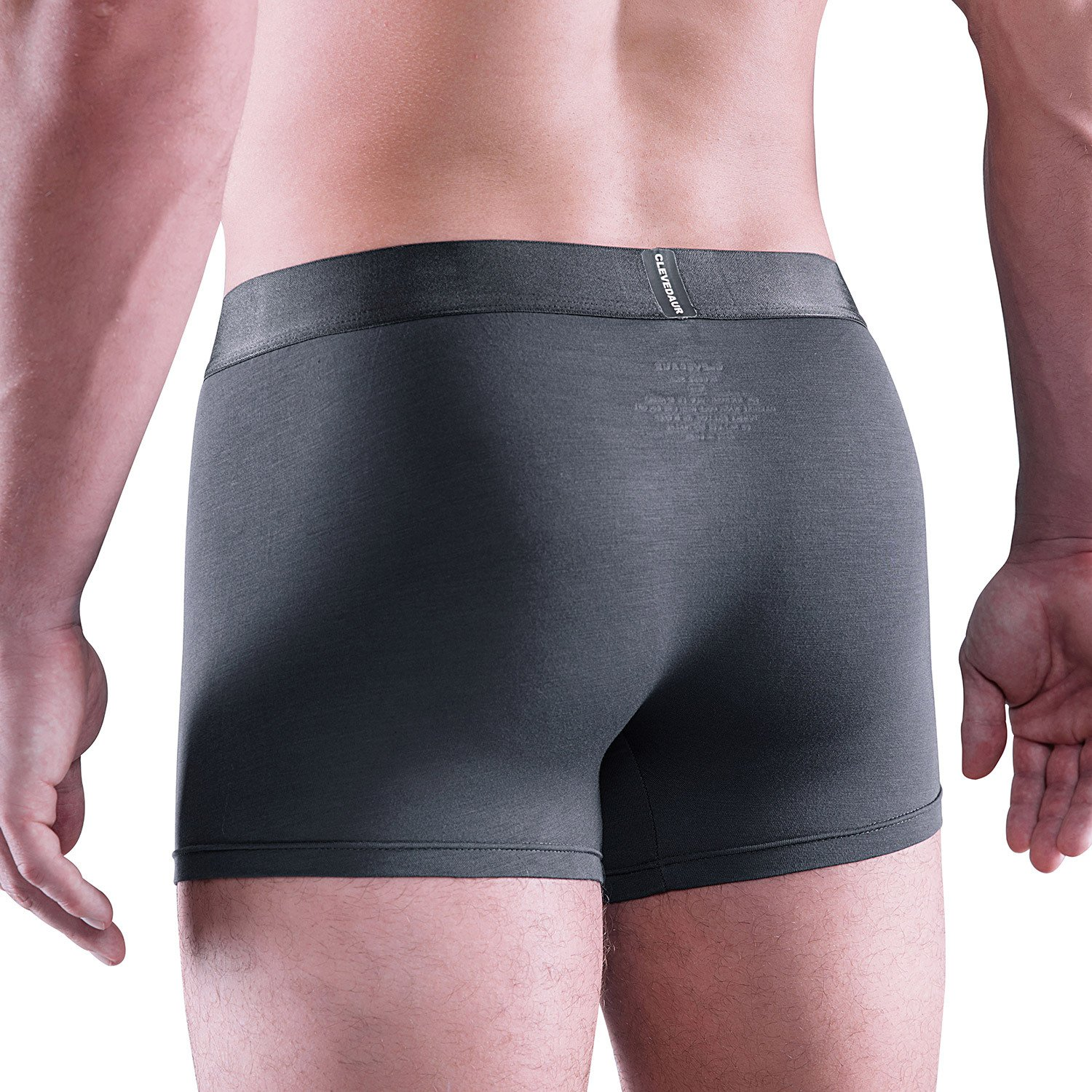 CLEVEDAUR Mens Underwear 4 Inches Antimicrobial Mirco Modal Trunks Pack of 3