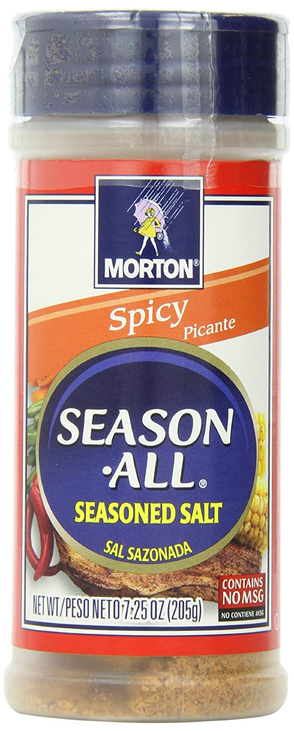 Morton Season-All Seasoned Salt, Spicy, 7.25-Ounce (Pack of 12)