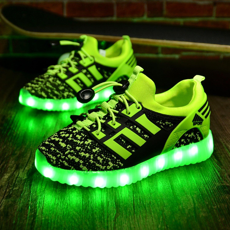 Yeeper LED Leuchtende Bunte Sneaker Turnschuhe Unisex Kinder Jungen M/ädchen USB Auflade Sportschuhe Leichte Schuhe 1832