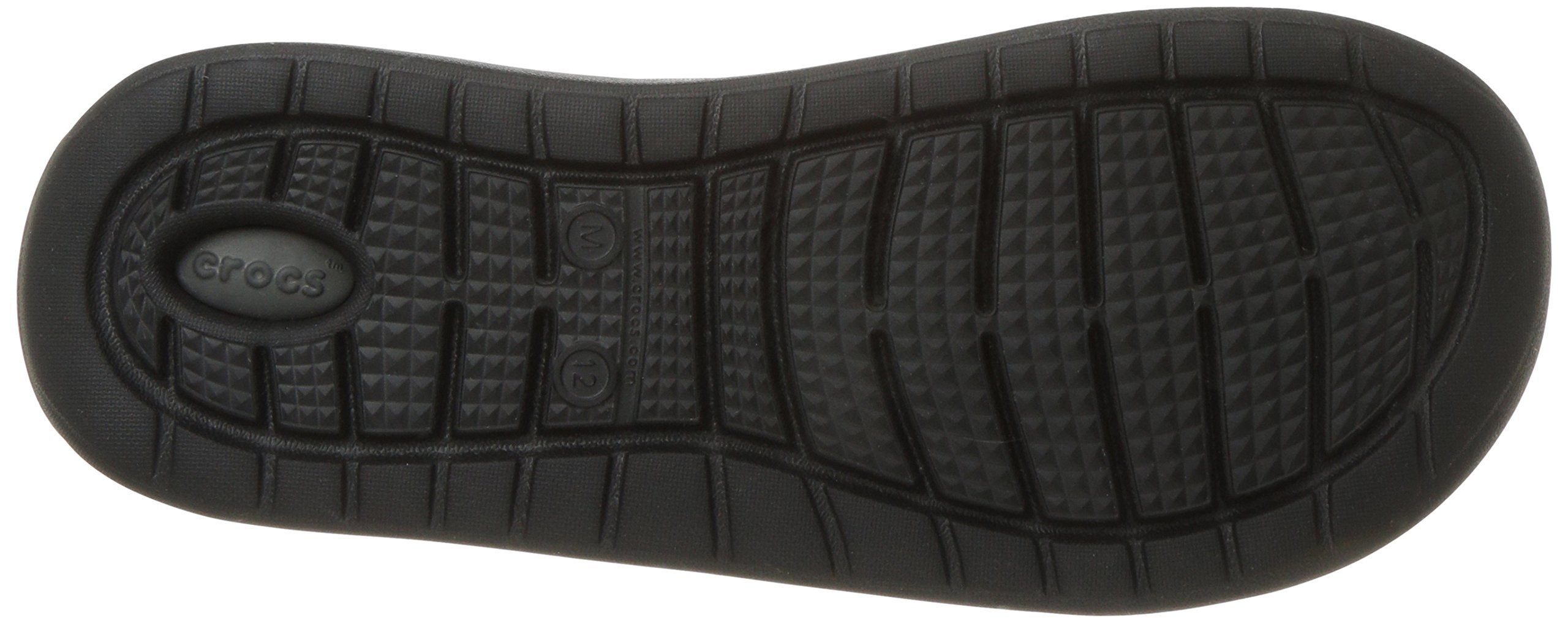 Crocs Unisex-Adults Literide Slide Sandal, Black/Slate Grey, 8 US Men/10 US Women by Crocs (Image #3)