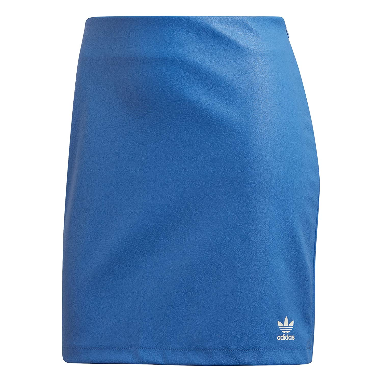 adidas Falda Mujer Originals en Cuero Azul DH4209: Amazon.es ...