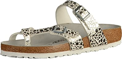 ae73202e3f9 Image Unavailable. Image not available for. Color  Birkenstock Thong Mayari  Metallic Stones Silver ...