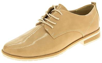 b5063eb3d493 Marco Tozzi Womens Faux Leather Lace Up Summer Brogue Shoes Lavender 8 B(M)