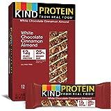KIND Protein Bars, White Chocolate Cinnamon Almond, Gluten Free, 12g Protein,1.76oz, 12 count