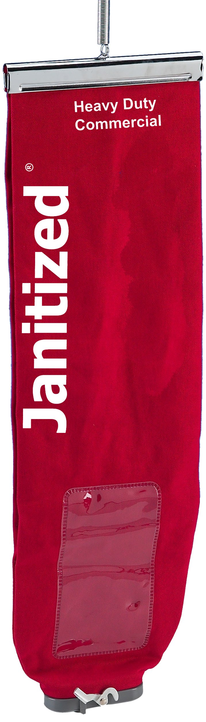 Janitized JAN-IVF167-CNSMS-RD Premium Replacement Commercial Vacuum Filter, For Clarke, Eureka/Sanitaire, Euroclean and Nilfisk ReliaVac Lined Red Cloth Bag with Lock Top Load (Case of 25)