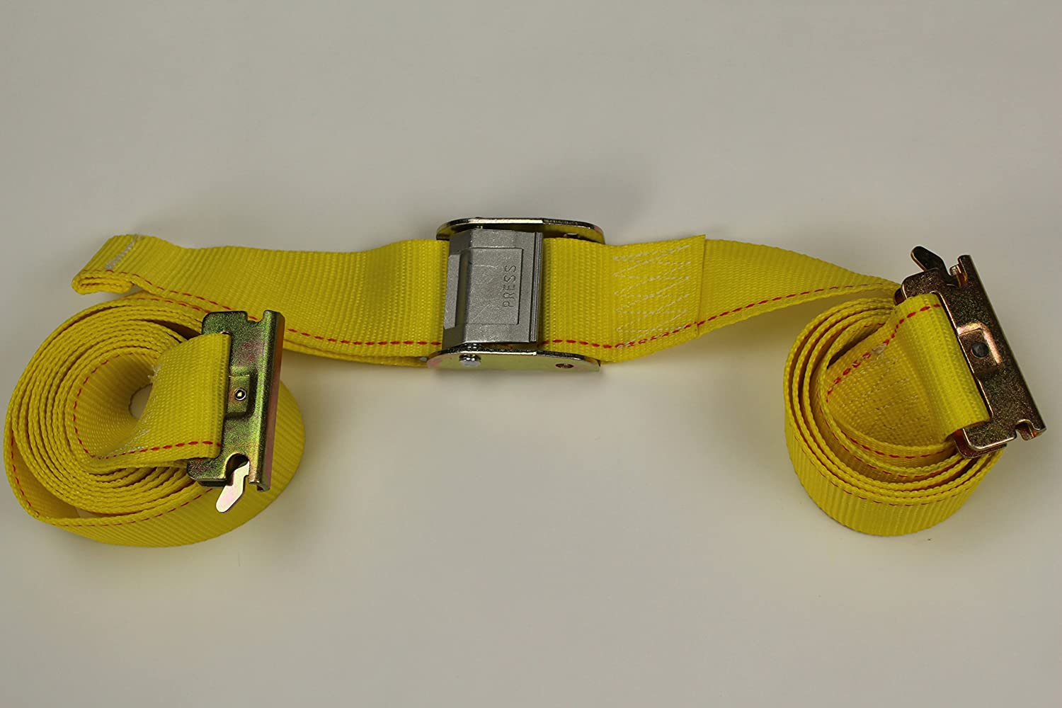 Boats Secure Motorcycles and Quads with Cam Straps 2 x 12 Cam Buckle TieDown Straps for Cargo on Trucks 10 Tie-Down Straps Trailers Vans