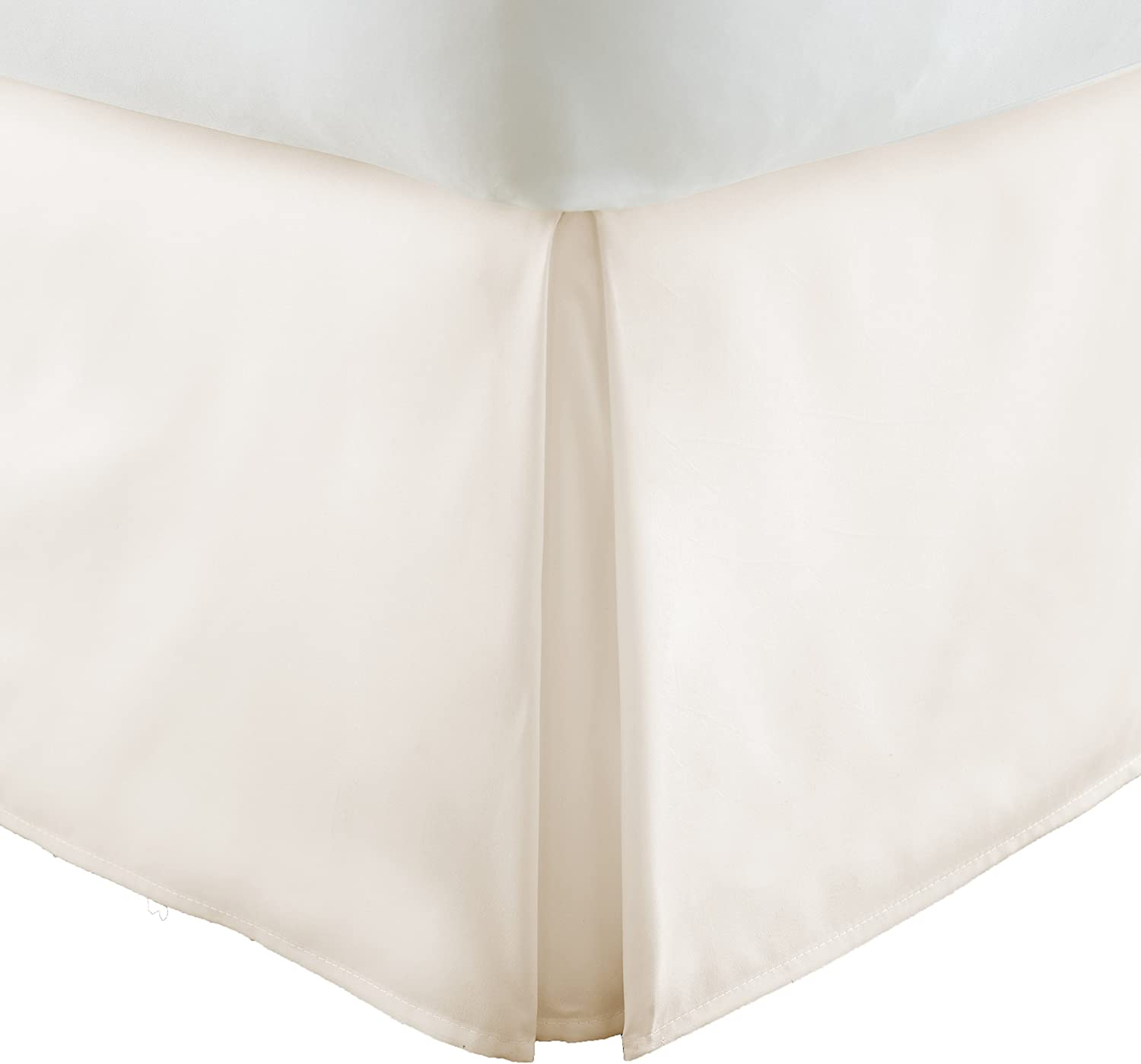 Becky Cameron BC-BEDSKIRT-Twin-Ivory Collection Pleated Bed Skirt