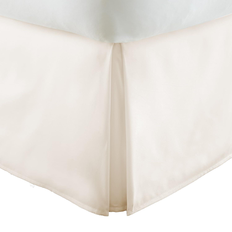 単にソフトプレミアムプリーツベッド用フリル付きスカートDust キング SS-BEDSKIRT-KING-IVORY B07BS2DZ7Y キング|アイボリー アイボリー キング