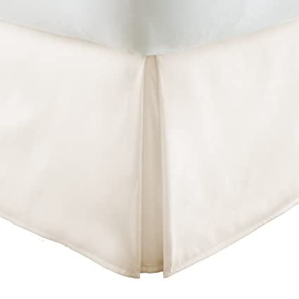 ienjoy Home Ieh-Bedskirt-Calking-Ivory Collection Pleated Bed Skirt