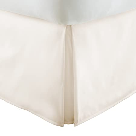 ienjoy Home Ieh-Bedskirt-Twinxl-Ivory Pleated Collection Bed Skirt