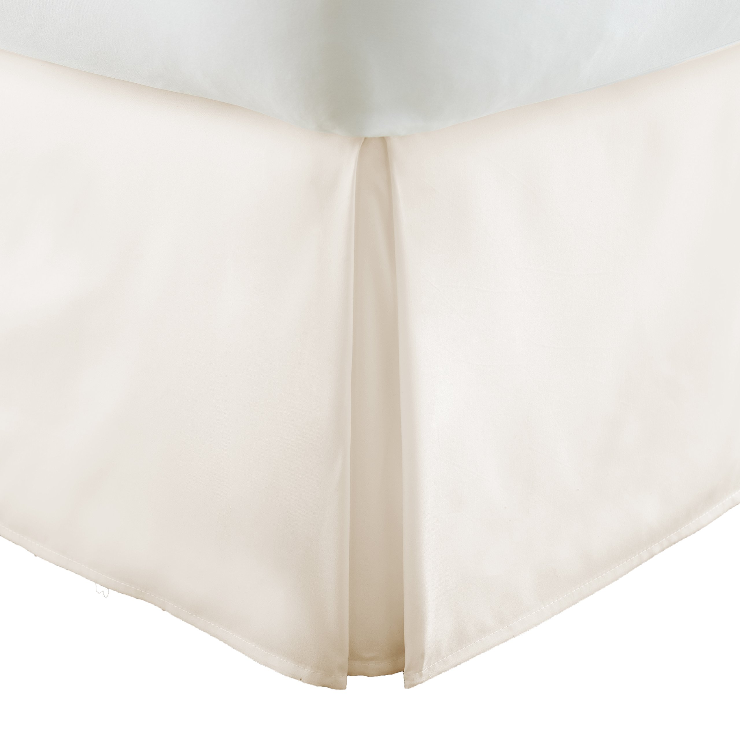 Simply Soft Pleated Bed Skirt, King, Ivory