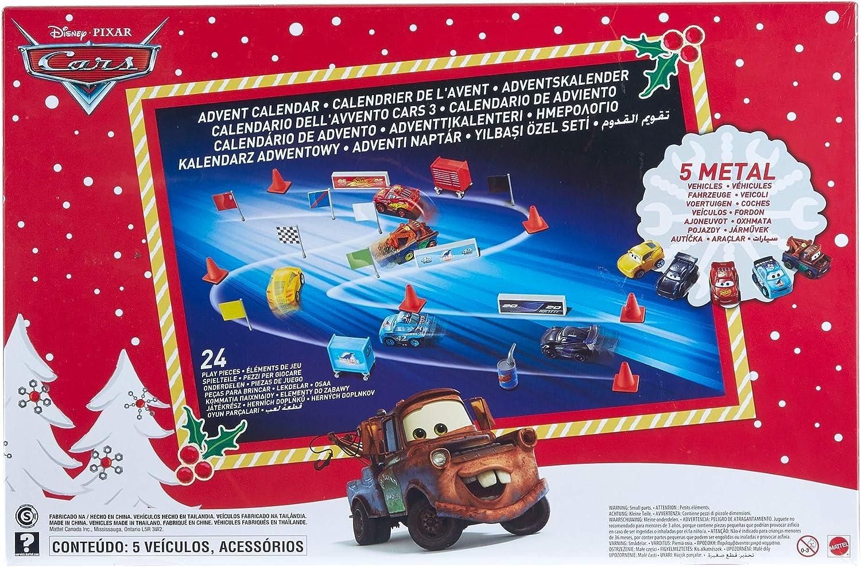 Cars Calendario de Adviento con juguetes (Mattel GBV45): Amazon.es ...