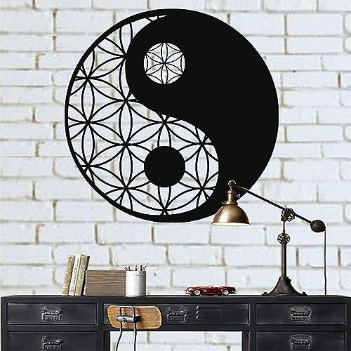 Metal Yin Yang Decor