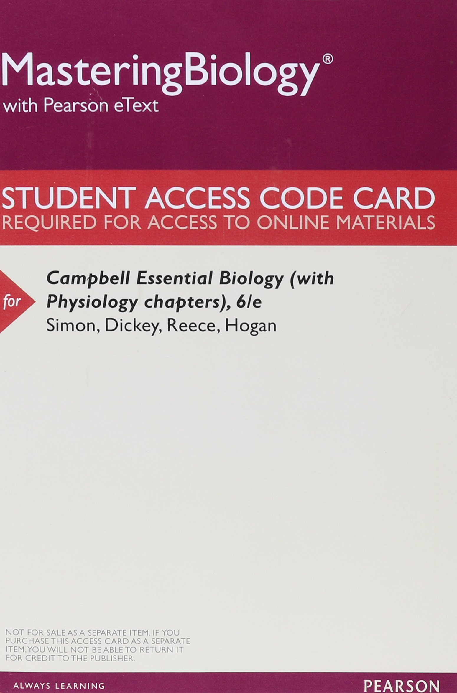 Campbell Essential Biology Access Eric J Dickey Jean L Reece