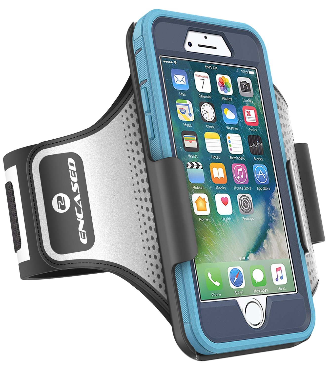 Encased Workout Armband for Otterbox Defender Series - iPhone 7 Plus (5.5''), Sweat-Resistant Band (case is not included)